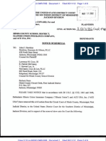 D.E. 1 NOTICE of REMOVAL by ACE USA, Inc., Illinois Union Insurance Company From Circuit Court of Hinds County, Mississippi, Case Number 251-12-99-CIV