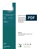 - SINIAALTO Maria. Test Driven Development Empirical Body of Evidence