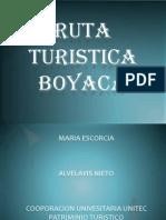 RUTA TURISTICA BOYACA