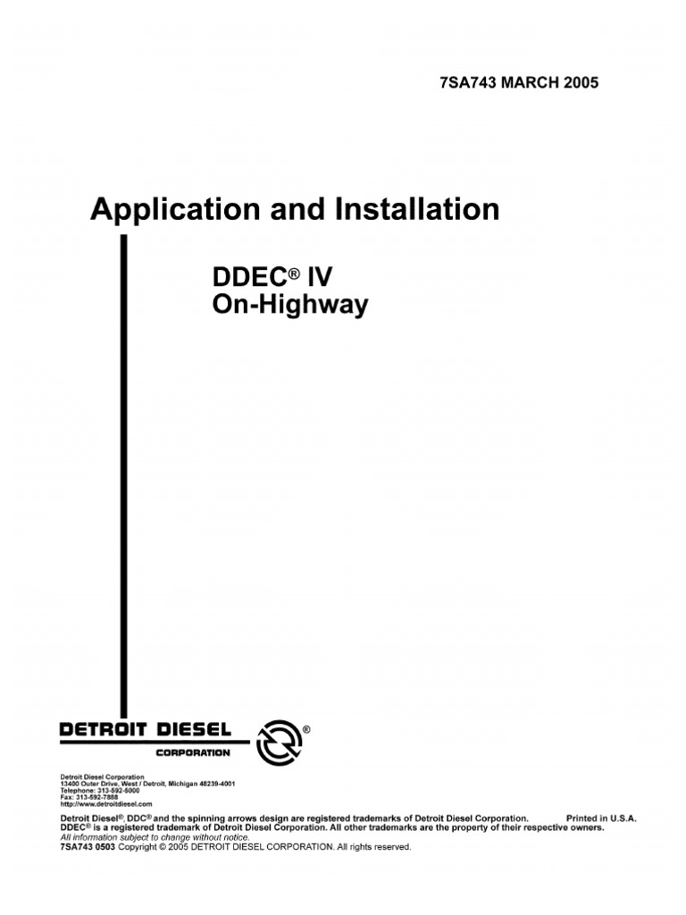 Ddec Iv Wiring Diagram Pin 525 Electrical Diagrams Series 60 7sa743 2005 Computing And Information Technology
