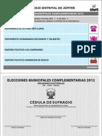 Cédula de capacitación EMC 2012
