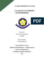 Referat Ilmu Kesehatan Anak,Leptospirosis