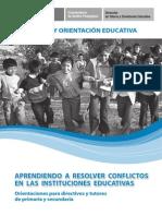 48 Tutoria y oreintación educativa Aprendiendo a resolver conflictos en las instituciones educati