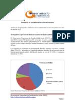 Tendencias de La Conflictividad Social en Venezuela Abril 2012