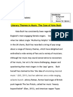 Kate Bush - literary themes (example essay draft)