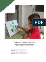 vision del color en niños