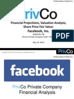 PrivCo Facebook Valuation