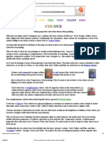 Colour Properties and Colour Theory When Painting