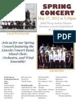 Spring Concert 2012 Flier