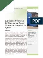 Evaluación del Sistema de Agua Potable de la ciudad de Ayaviri