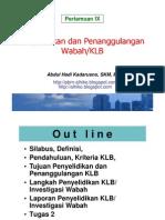 Epid Lingk a- Wabah 2 - Penyelidikan n Penangulangan Wabah KLB - 15 Mei 2012