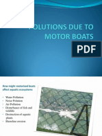 Polutions Due to Motor Boats