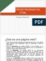 Como Crear Paginas en HTML