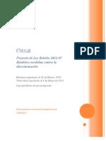 Chile. Ley que establece medidas contra la discriminación. 2012