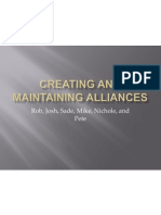 Creating and Maintaining Alliances Updated