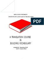A Translation Course in Building Vocabulary