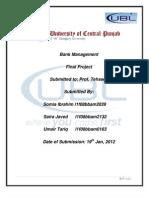 Bank Management FINAL PROJECT[1]