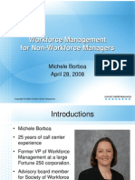 Michele Borboa WFM for Non-Workforce Managers 101 Tele-Seminar