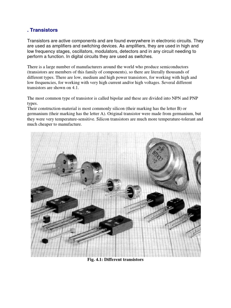 Transistors Transistor Bipolar Junction Most Popular Electronic Circuits