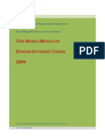 The Media Menus of Danish Internet Users 2009