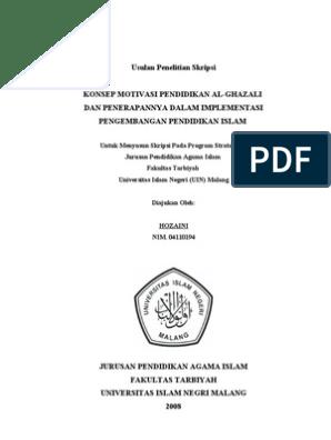 Contoh Proposal Skripsi Pai Library Research Berbagi Contoh Proposal