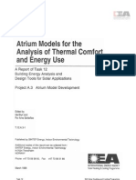 Atrium Models for the Anaylsis of Thermal Comfort and Energy Use-full