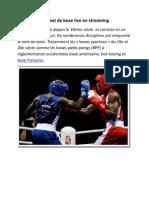 Combat de boxe live en streaming