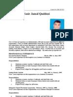 Nasir Jamal Quddusi CV