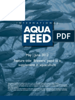 Brewers' yeast as a supplement in aquaculture