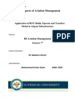 BOT; Application of Build, Operate and Transfer method In Aviation infrastructure