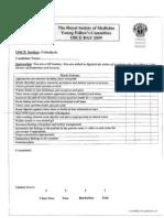 RSOM Mark Schemes