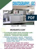 GC (Cromatography Gas) chemistry engineering university of riau