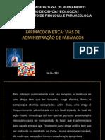 1 Prova - 1 Aula Farmacocinética