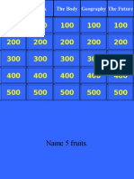 Jeopardy English Language Review Game