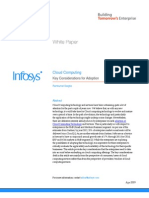 Cloud Computing - Key Considerations for Adoption