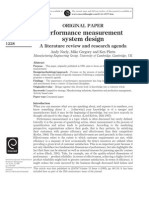 14. Performance Measurement System Design a Literature Review and Research Agenda