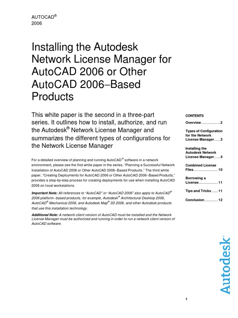 AutoCAD 2006 Installing Network License Manager0 | Auto Cad