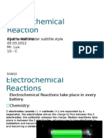 Electrochemical Reaction