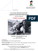 Locandina+Comunicato Nakba 2012 Cagliari