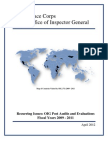 Peace Corps Recurring Issues Office of Inspector General Post Audits and Evaluations FYs 2009-2011 |  April 2012
