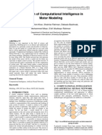 Application of CI in Motor Modeling