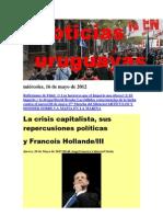 Noticias Uruguayas miércoles 16 de mayo 2012