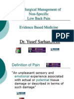 Dr Yusef Sarhan Orthopedic Surgery Chronic Low Back Pain MBC