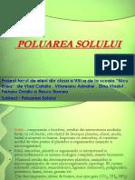 Proiect Power Point Poluarea Solului [CLASA VIII]
