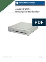 TIF-2000A User Manual