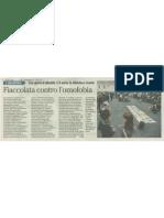 Fiaccolata contro l'omofobia - l'Adige 2012-05-16