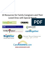 10 Resources for Family Caregivers and Their Loved Ones with Special Needs