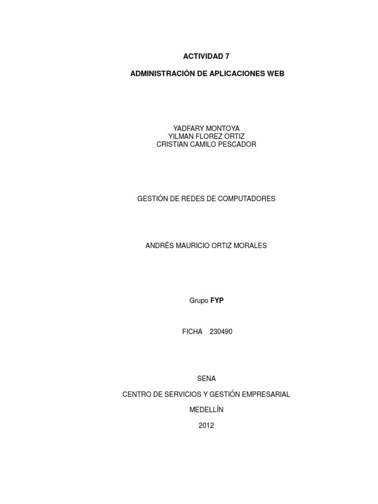 ACTIVIDAD 7 - ADMINISTRACIÓN DE APLICACIONES WEB