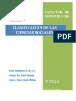 Clasificación Ciencias Sociales