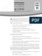 Reforming Libel - What Must A Defamation Bill Contain